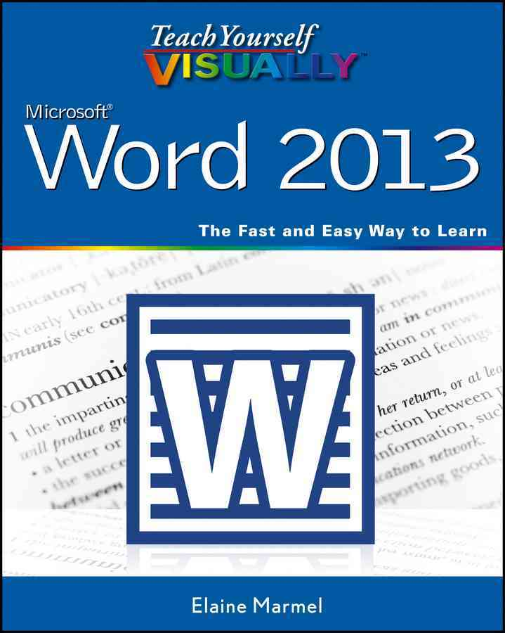 Teach Yourself Visually Word 2013 By Marmel, Elaine